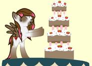 Choco Straws Cake