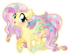 Rainbow power crystal fluttershy by theshadowstone-d818mfi