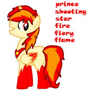 Prince shooting star fire fiery flame