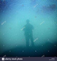 Sombra-de-la-persona-en-el-agua-de-mar-en-un-estanque-de-rocas-s0edgc