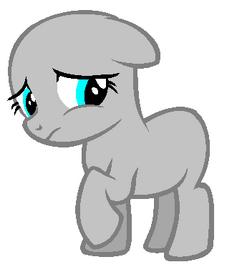 Upset filly earth pony base by riakapepsipony-d62rjf4