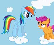 Scootaloo and Rainbow Dash