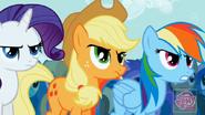 Rarity, Applejack y Rainbow Dash