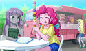 Pinkie y Maud helado