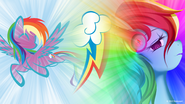 Rainbow dash likes listening to music wallpaper by nsaiuvqart-d5015s9