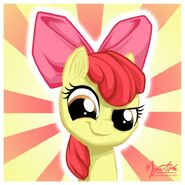 Apple bloom smirk by mysticalpha-d4uuh94