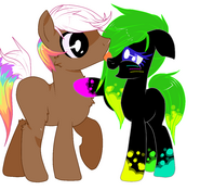 Cherri and hp deskjet mlp fim ocs by bread with cheeze-d7ugml3
