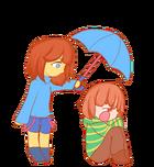 Frisk And Chara (WaterFall Sadness)