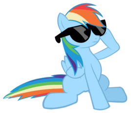 Rainbow dash sunglasses vector by saksibouy-d4d0spq