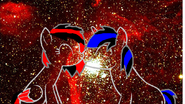 Heart blood y black star galaxia wallpaper