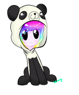 Cute colsplay de panda