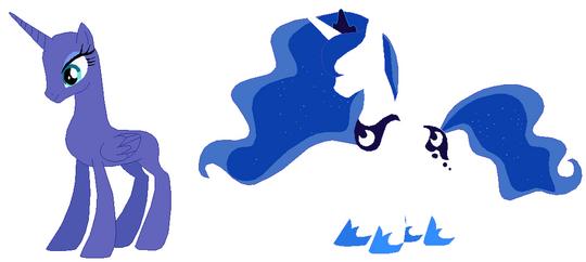 Princess luna s2 base by selenaede-d54dd9t