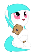 Cotton Heart -Filly with a teddy