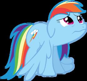 Rainbow dash is sad by tattooclown-d5ujn37