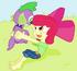 Doggy spike and apple girl by tagman007-d6gr3py