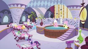 Main ponies in spa S02E23