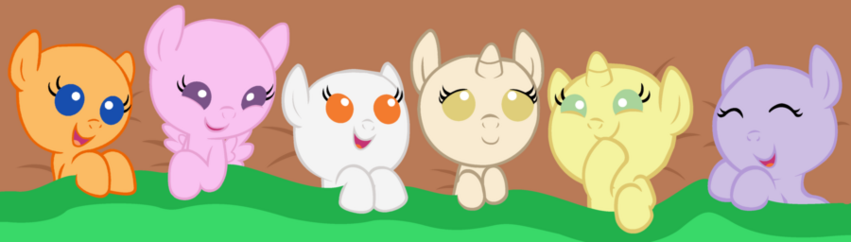 Baby pony base another sleepover in the nursery by maddielightspretend-d524cim