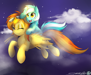 Spitfire and filly lyra commission by spittfireart-d57vdu2