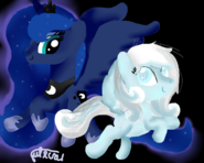 Snowdrop and luna