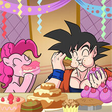 Pinkie pie Goku