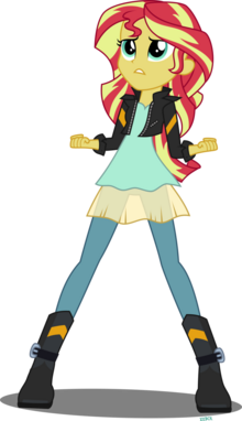 Sunset shimmer by xebck-d8o9f3s
