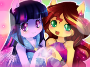 We got the light of friendship by the loony hatter-d8bvy5i