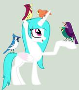 Princess Cotton Heart - con aves