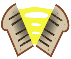 Cheese Sandwich Cutie Mark vector