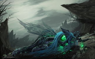 324px-88288 safe grimdark queen-chrysalis sad artist-huussii changeling-blood