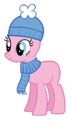 Winter pony base pinkie pie by ninjaproperty-d5lte3o