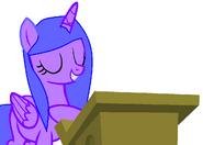 Asi es como una princesa da un discurso-Princesa Light Moon