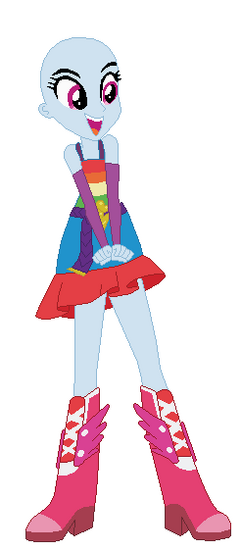 Equestria girls rainbow dash prom base by selenaede-d68l4js