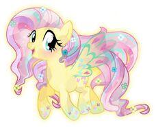 Fluttershy rainbow cristal