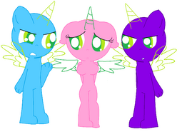 Anthro pony base love triangle