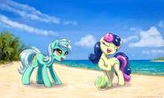 Lyra and bon bon at the beach by kp shadowsquirrel-d6eao70