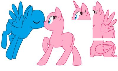 Pony kissing base by shadeila-d56lx0t