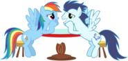 Rainbow dash and soarin lovey dovey updated by bobthelurker-d53nizp