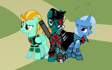 Lightning Dust, Sykor y Trixie