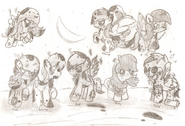 Protagonistas B-A II Zombies