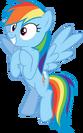 Rainbow dash pose