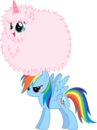 Fluffle puff dancing on rainbow dash by mactavish1996-d6ci8pe