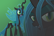 Queen chrysalis wallpaper by luuandherdraws-d54av5c