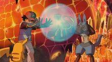 Ash and Lucario