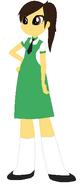 Elena con uniforme