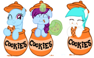 Cotton heart cookies colla b