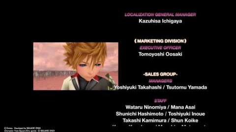 Kingdom Hearts HD 2.8 Final Chapter Ending Credits