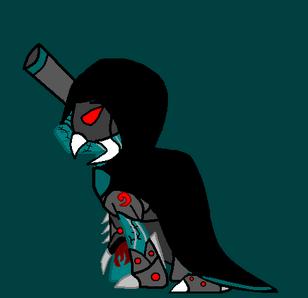 Sykor envuelto en su capa