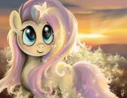 Tumblr static shining fluttershy by rom art-d56q9be