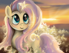 Tumblr static shining fluttershy by rom art-d56q9be