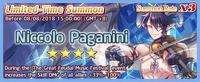 Niccolo Paganini Summon Banner